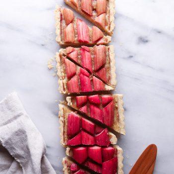 Ombré Rhubarb Tart