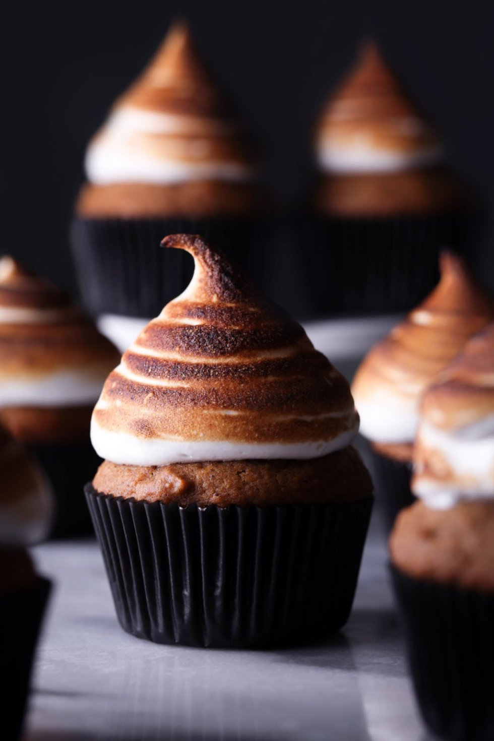 Sweet Potato Cupcakes with Toasted Marshmallow Meringue | Dairy and refined sugar free with a gluten-free alternative!