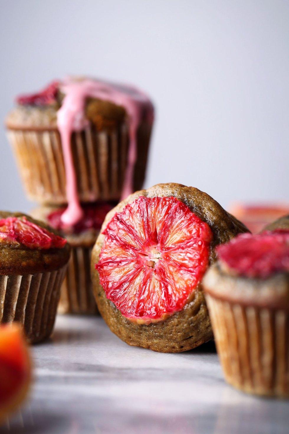 Blood Orange Spelt Muffins | Free of gluten, dairy, eggs, and refined sugar | Vegan friendly