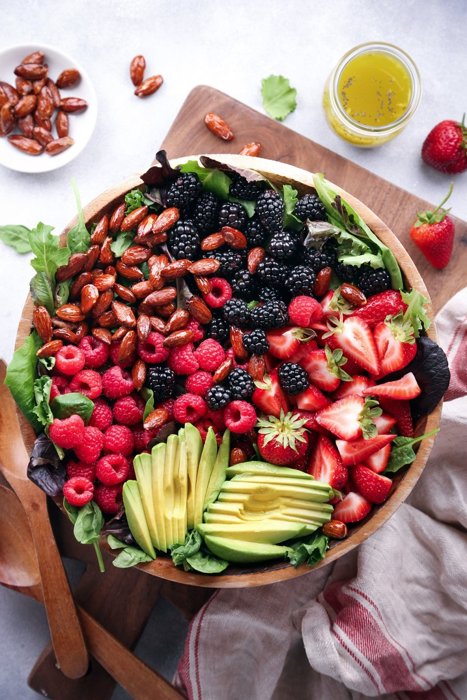 Mixed Berry and Avocado Salad with Poppyseed Dressing | Wife Mama Foodie