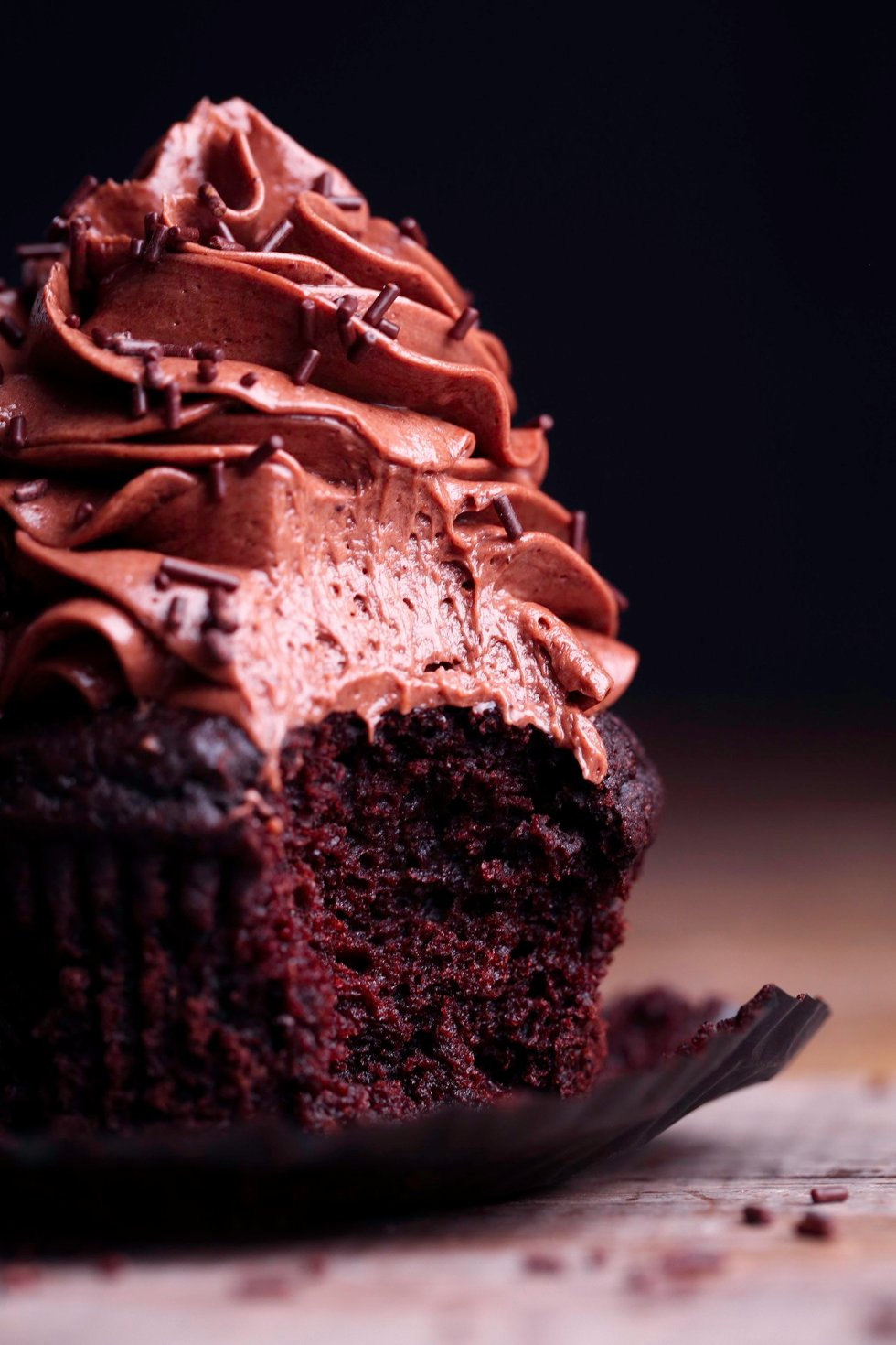 Vegan Chocolate Cupcake | Gluten-Free Option Included