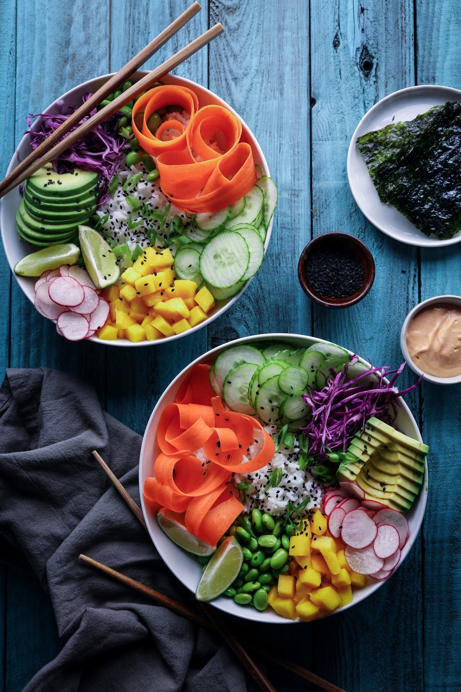Deconstructed Sushi Bowls | Vegan and Gluten-Free