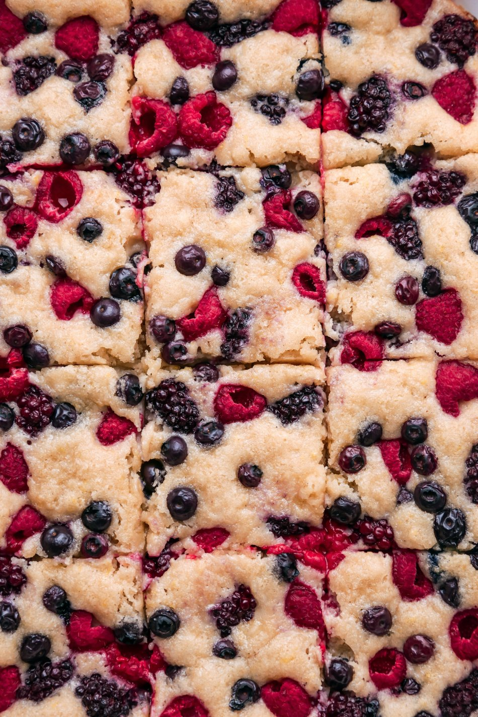 Easy Berry Sheet Cake   Vegan friendly with gluten and refined sugar free option