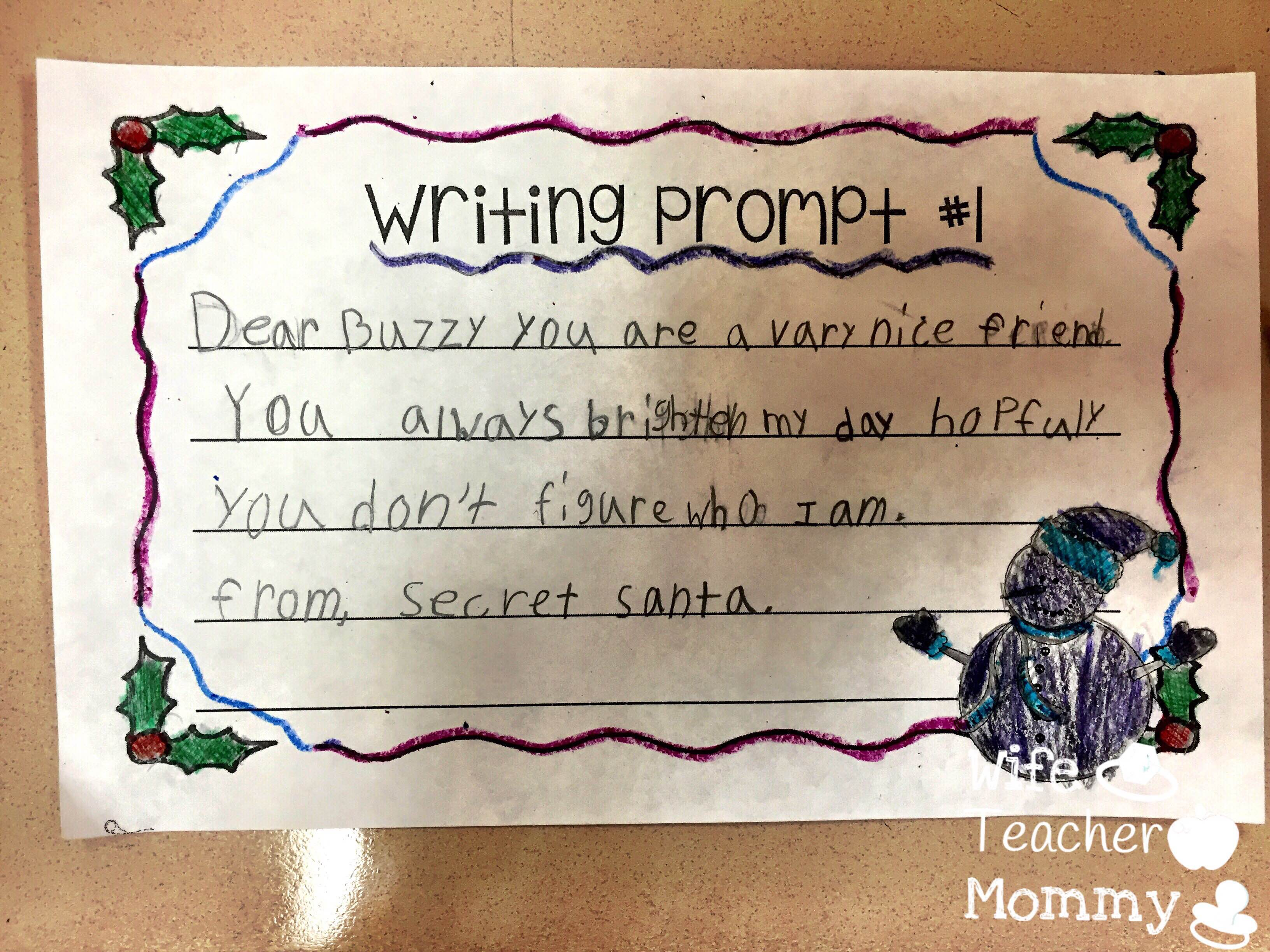 Secret Santa Writer's Workshop will help engage your students in writing and service at the same time!