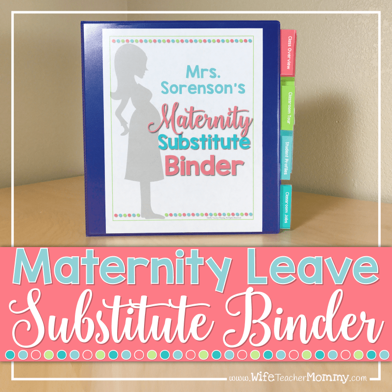 Maternity Leave Substitute Binder