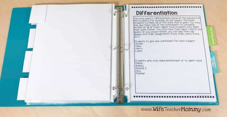 Differentiation page
