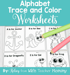Alphabet Tracing \u0026 Writing Worksheets - Wife Teacher Mommy [ 1600 x 1600 Pixel ]