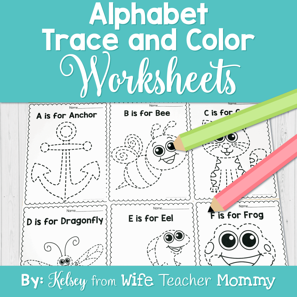 medium resolution of Alphabet Tracing \u0026 Writing Worksheets - Wife Teacher Mommy