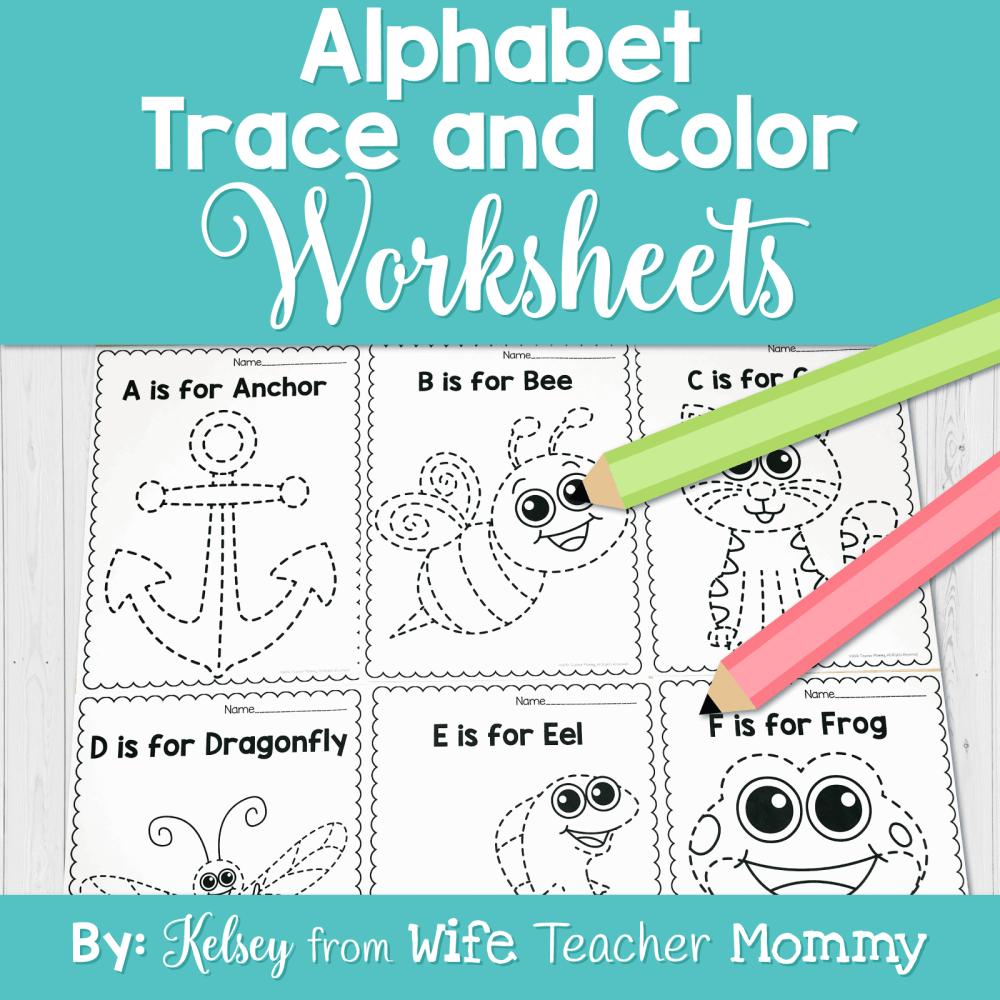medium resolution of Alphabet Tracing \u0026 Writing Worksheets - Wife Teacher Mommy