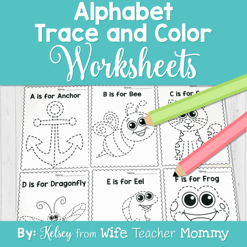 small resolution of Alphabet Tracing \u0026 Writing Worksheets - Wife Teacher Mommy