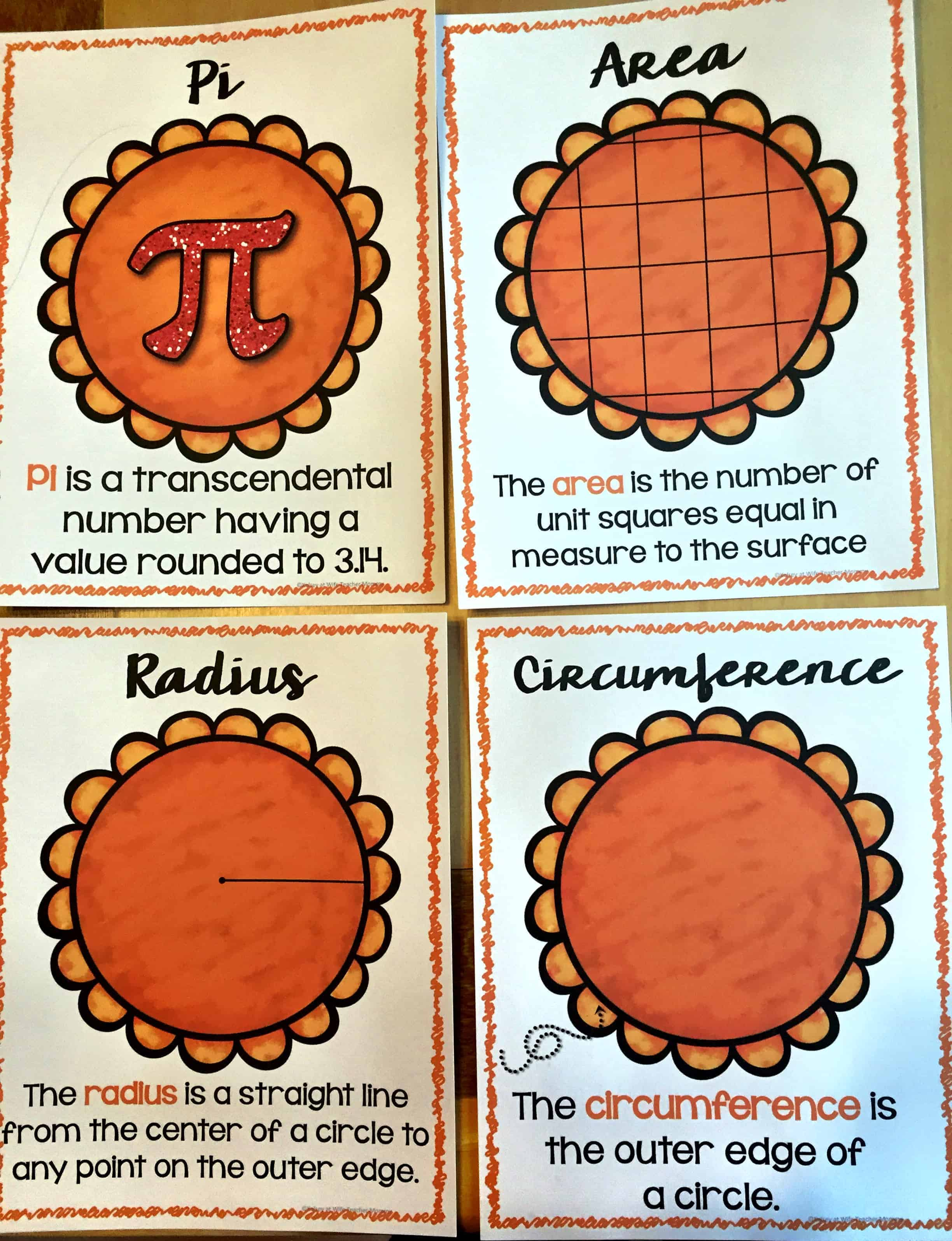 Area Circumference Are Easy As Pie Worksheets Wife Teacher Mommy