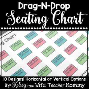 These editable seating charts are perfect for your classroom!