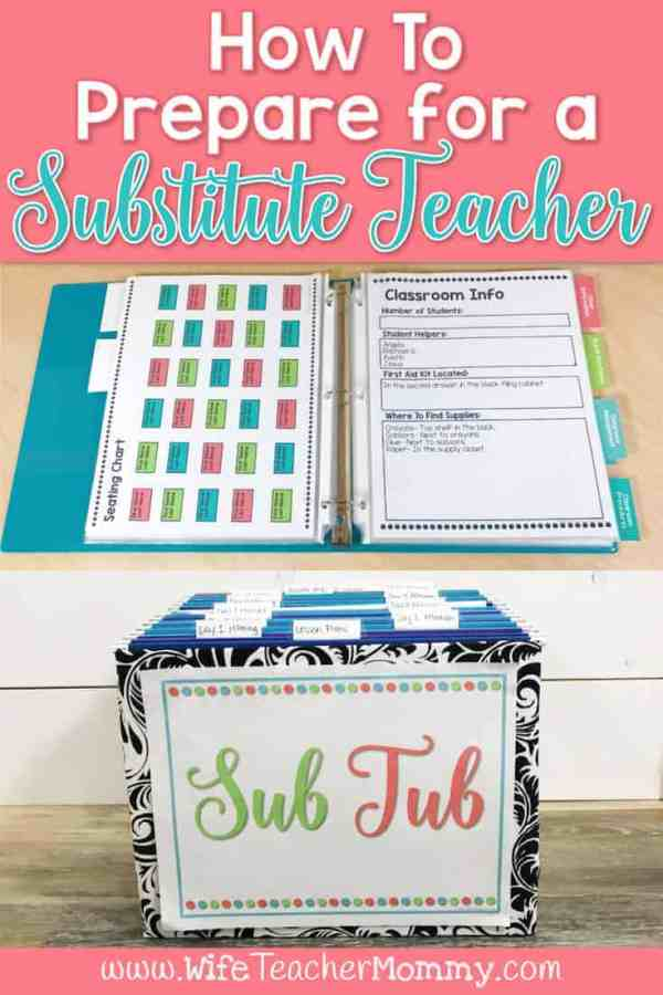 How to Prepare for a Substitute Teacher
