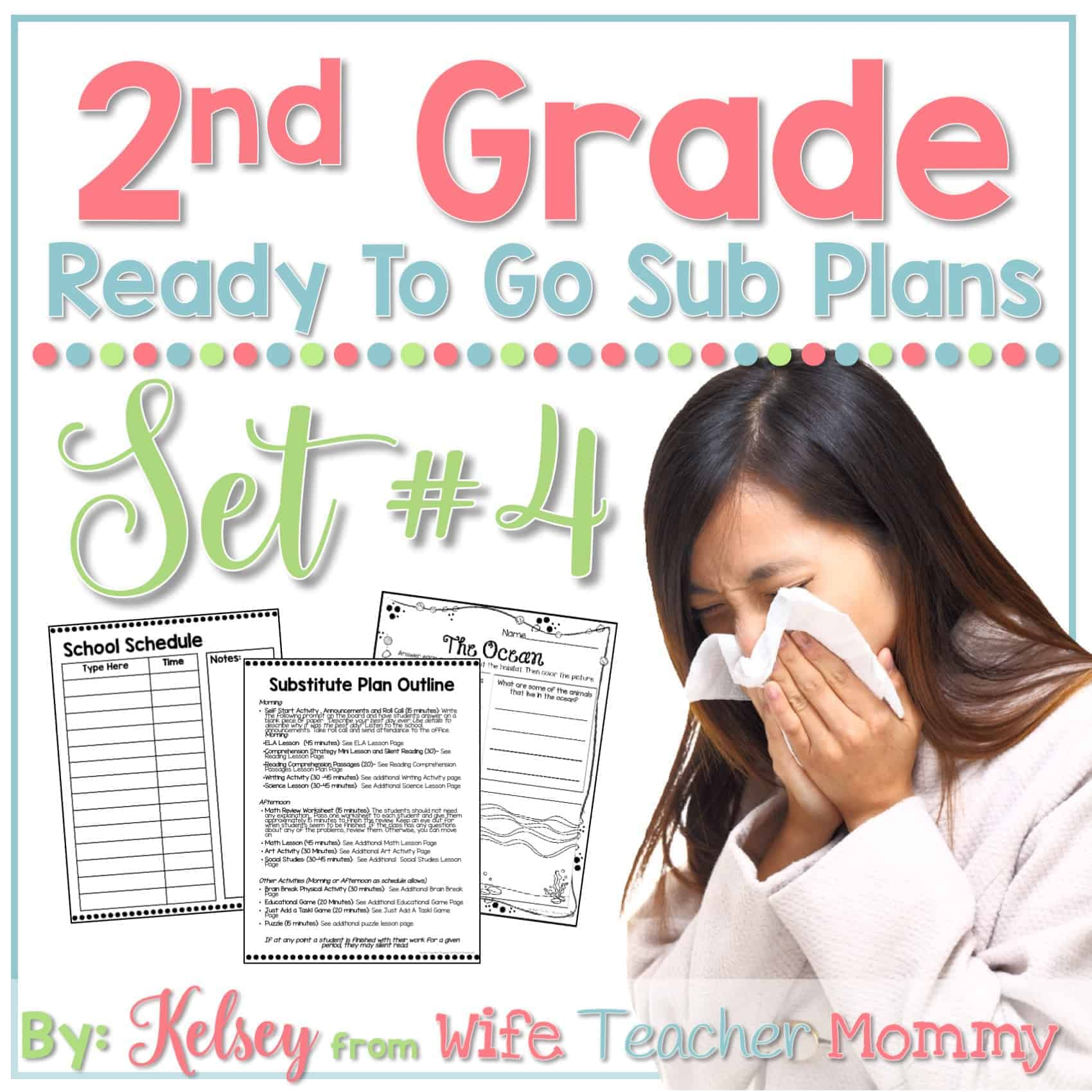 hight resolution of 2nd Grade Ready To Go Sub Plans Set #4 - Wife Teacher Mommy