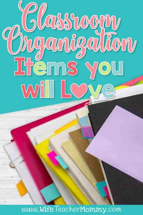 Classroom Organization Items you will Love