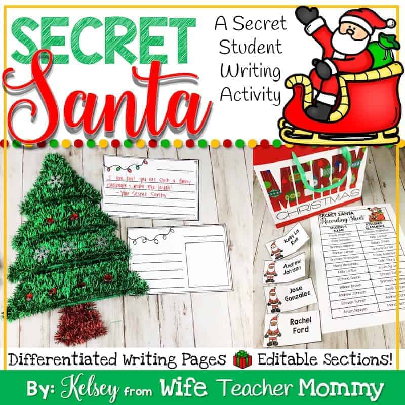 Christmas Writing Prompts.Secret Santa Writing Christmas Writing Prompts And Unit Wife Teacher Mommy