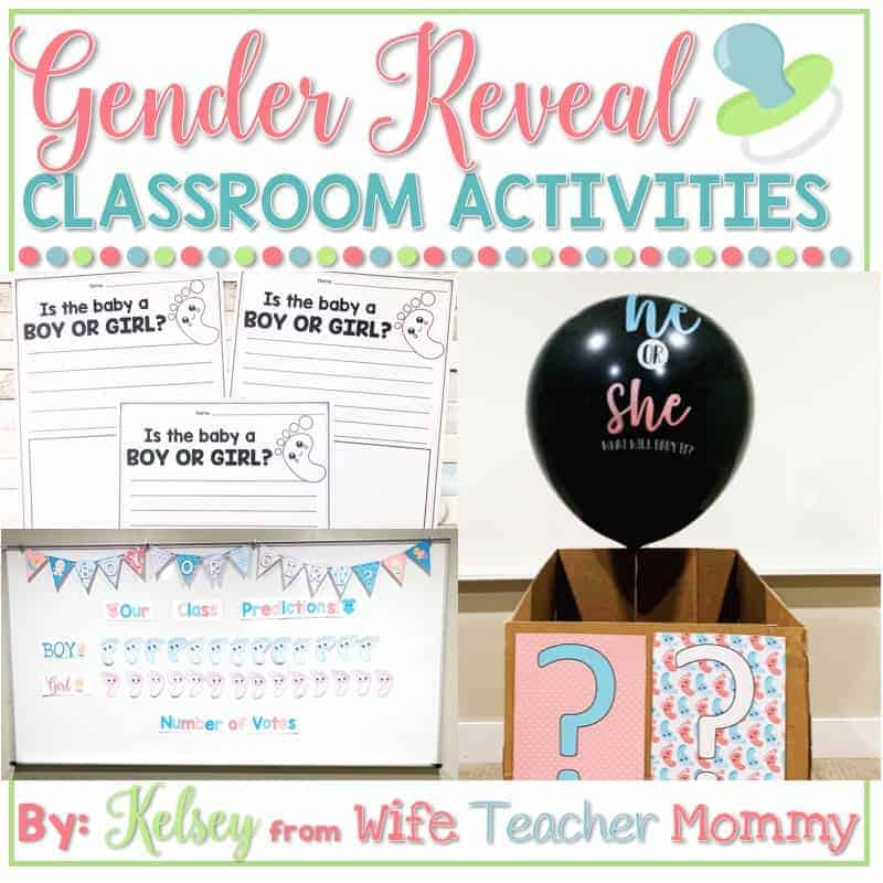 Do a gender reveal activity with your students with these fun and engaging gender reveal printables!