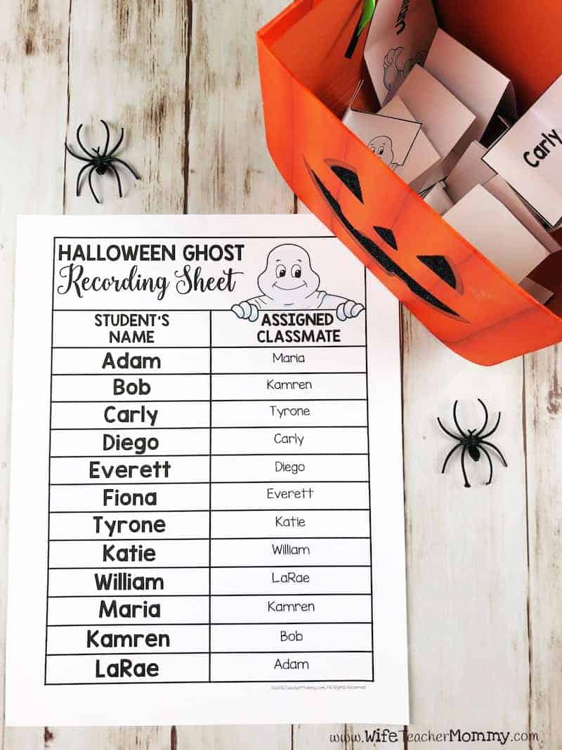 "Want to learn a trick to build your classroom community in October? This Halloween ""Boo"" classroom activity is a great way to have students write and look out for each other! A great way to promote kindness in the classroom. Versions available for every month of the year!"