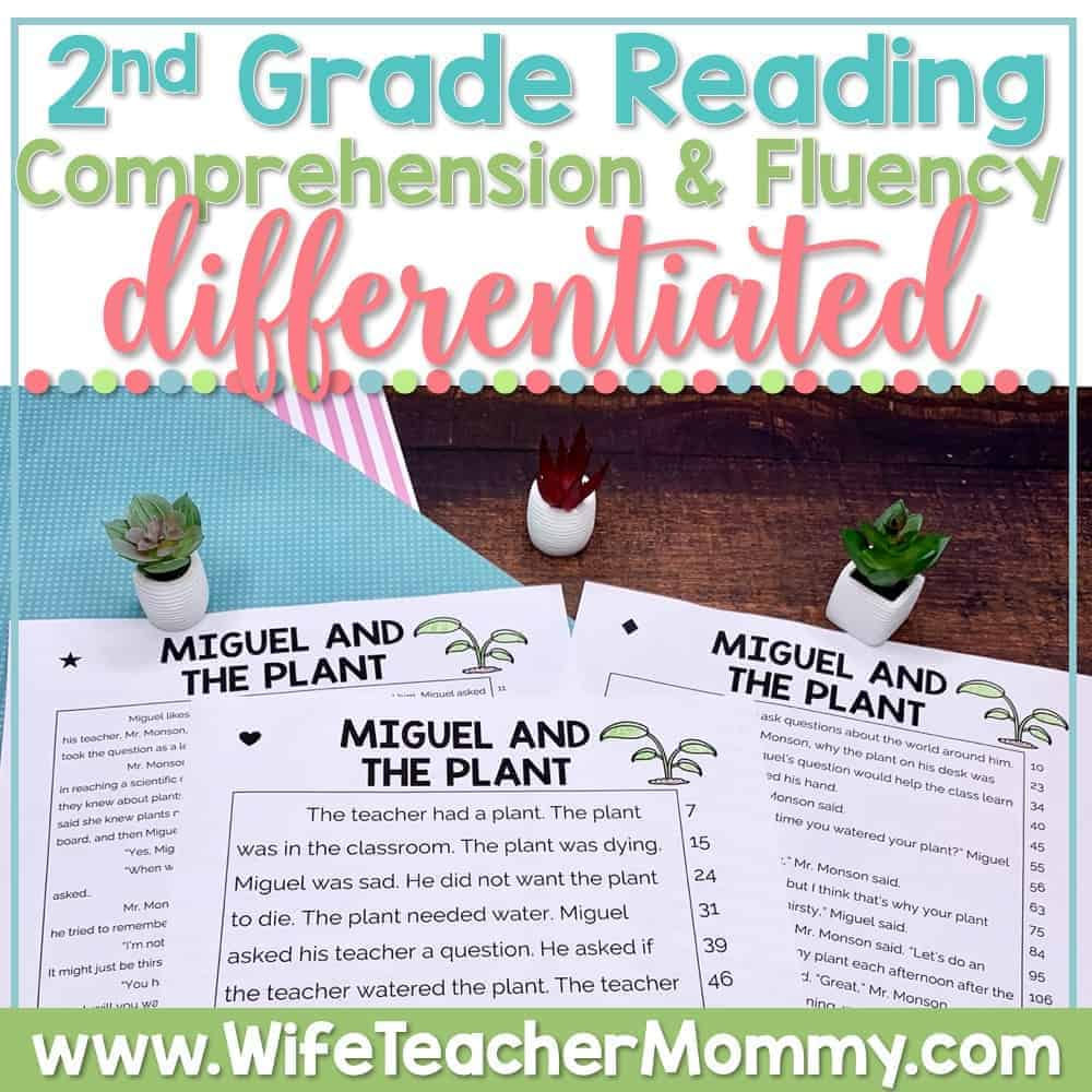 hight resolution of 2nd Grade Differentiated Reading Comprehension and Fluency PRINTABLE - Wife  Teacher Mommy