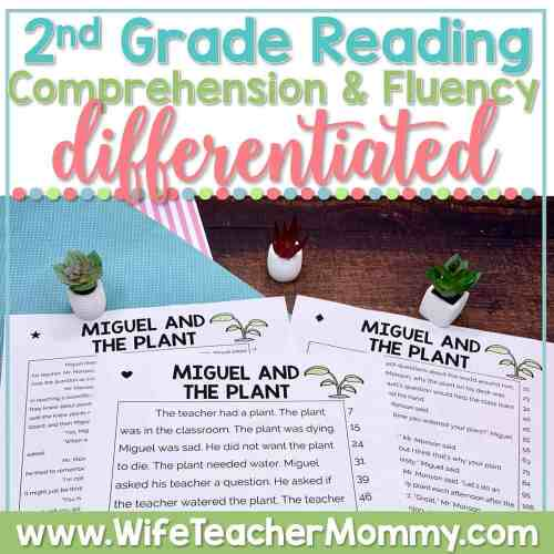 small resolution of 2nd Grade Differentiated Reading Comprehension and Fluency PRINTABLE - Wife  Teacher Mommy