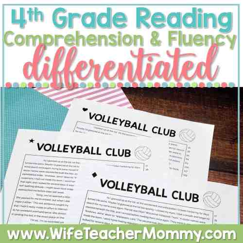small resolution of K-6 Differentiated Reading Comprehension and Fluency PRINTABLE BUNDLE -  Wife Teacher Mommy