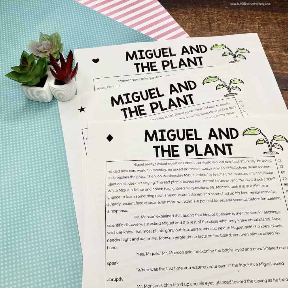 hight resolution of 5th Grade Differentiated Reading Comprehension and Fluency PRINTABLE - Wife  Teacher Mommy