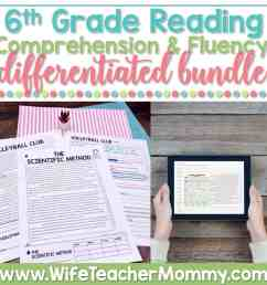 6th Grade Differentiated Reading Comprehension and Fluency GOOGLE +  PRINTABLE - Wife Teacher Mommy [ 1000 x 1000 Pixel ]