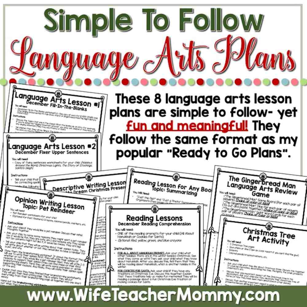 medium resolution of December Homeschool Lessons for 5th Grade \u0026 6th Grade Language Arts - Wife  Teacher Mommy
