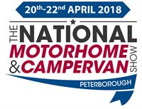National Motorhome & Campervan Show Peterborough, 20th to 22nd April 2018