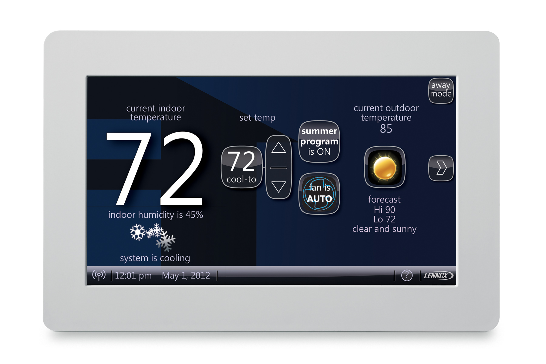 hight resolution of lennox icomfort wi fi thermostat review