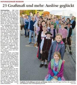 Zeitungsartikel vom Münchner Merkur