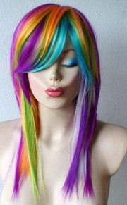 pretty colorful cosplay wigs
