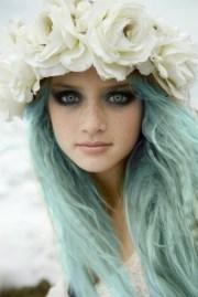 colorful wig brings