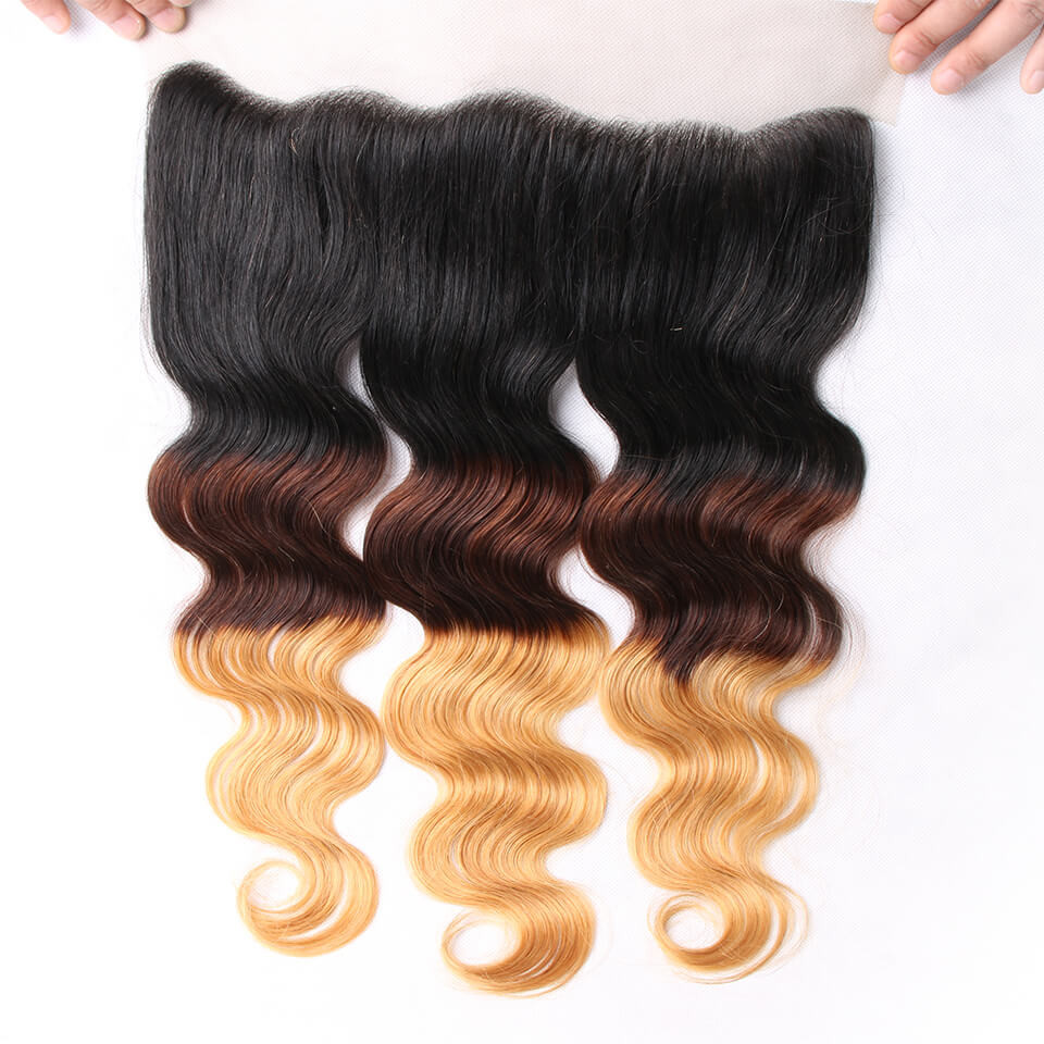 Ombre Hair Color 1B427 Body Wave Weave 3 Bundles With