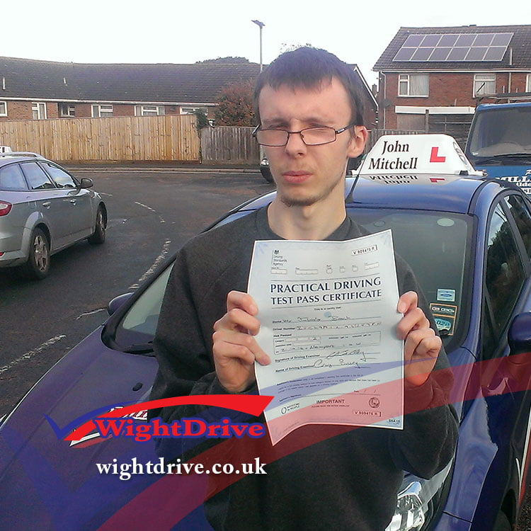 jakob-beck-driving-test-pass-2014-with-john-mitchell-isle-of-wight-driving-instructor