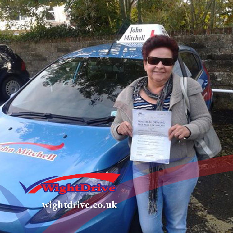 jane-kliass-driving-test-pass-2014-with-john-mitchell-isle-of-wight-driving-instructor
