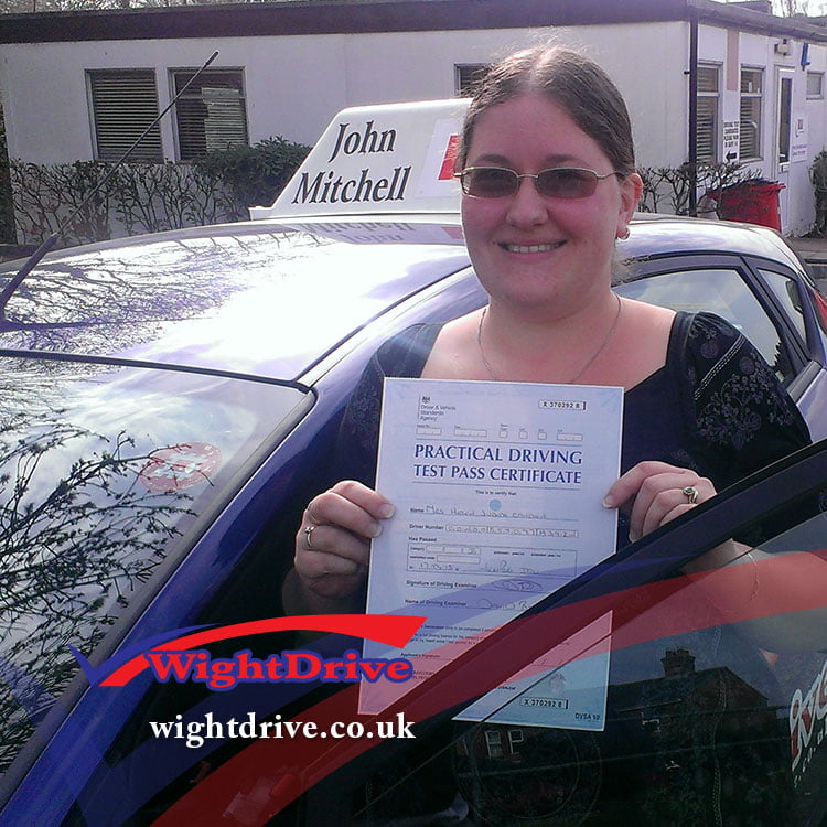 Helen-Condom-driving-test-pass-2015-with-John-Mitchell-isle-of-wight-driving-instructor