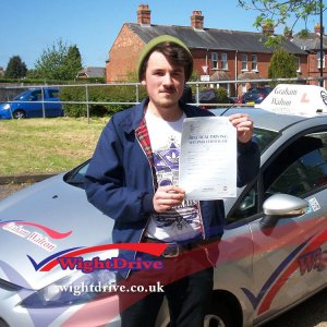 Sam-Richie-driving-test-pass-2015-with-Graham-Walton-isle-of-wight-driving-instructor