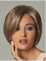 fuss blonde wavy short synthetic