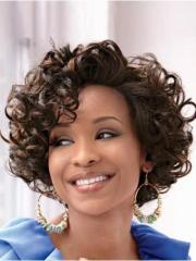 lace front easy classic curly short