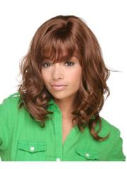 fuss brown curly shoulder length