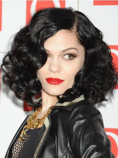 Natural Black Curly Chin Length Jessie J Wigs Jessie J Dip Dye Wigs