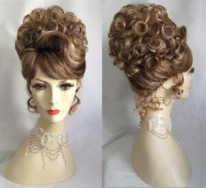 Two-Tone Blonde and Brown Soft Curl Updo-1