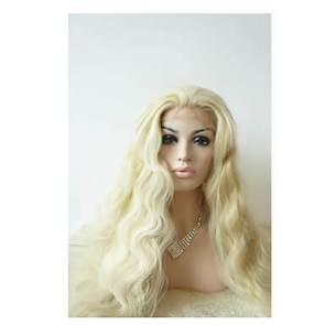 Long Wave Gold Wig for White Women