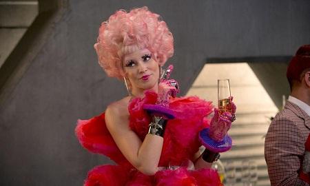 Effie Trinket pink wig