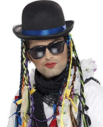 The 1980s Boy George Karma Chameleon Hat with Plaits