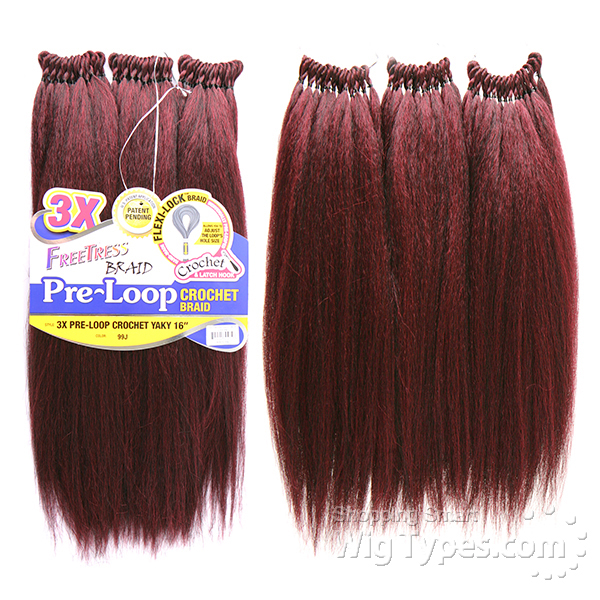 Freetress Synthetic Braid 3X PRE LOOP CROCHET YAKY 16