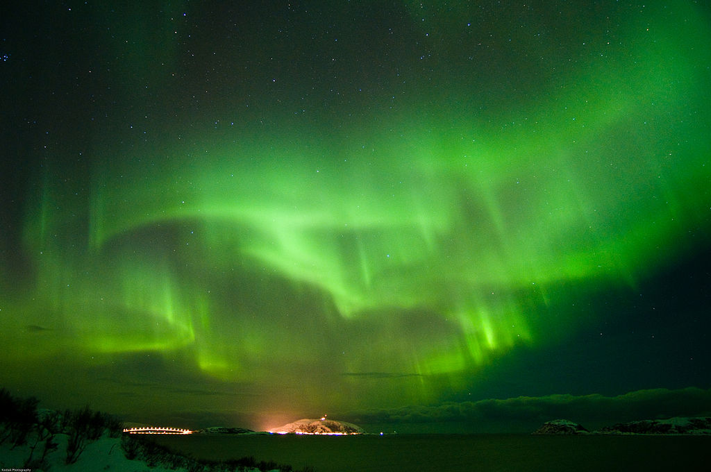 northern lights by boat in Iceland