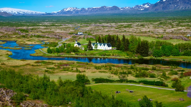 thingvellir national park in summer