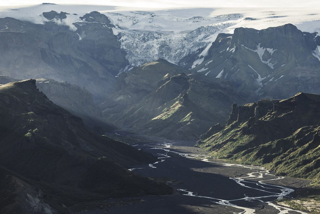 views over Thorsmork in the highlands of Iceland